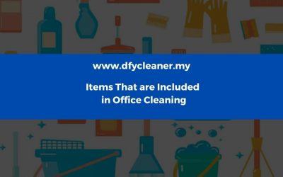 Items That are Included in a Basic Office Cleaning